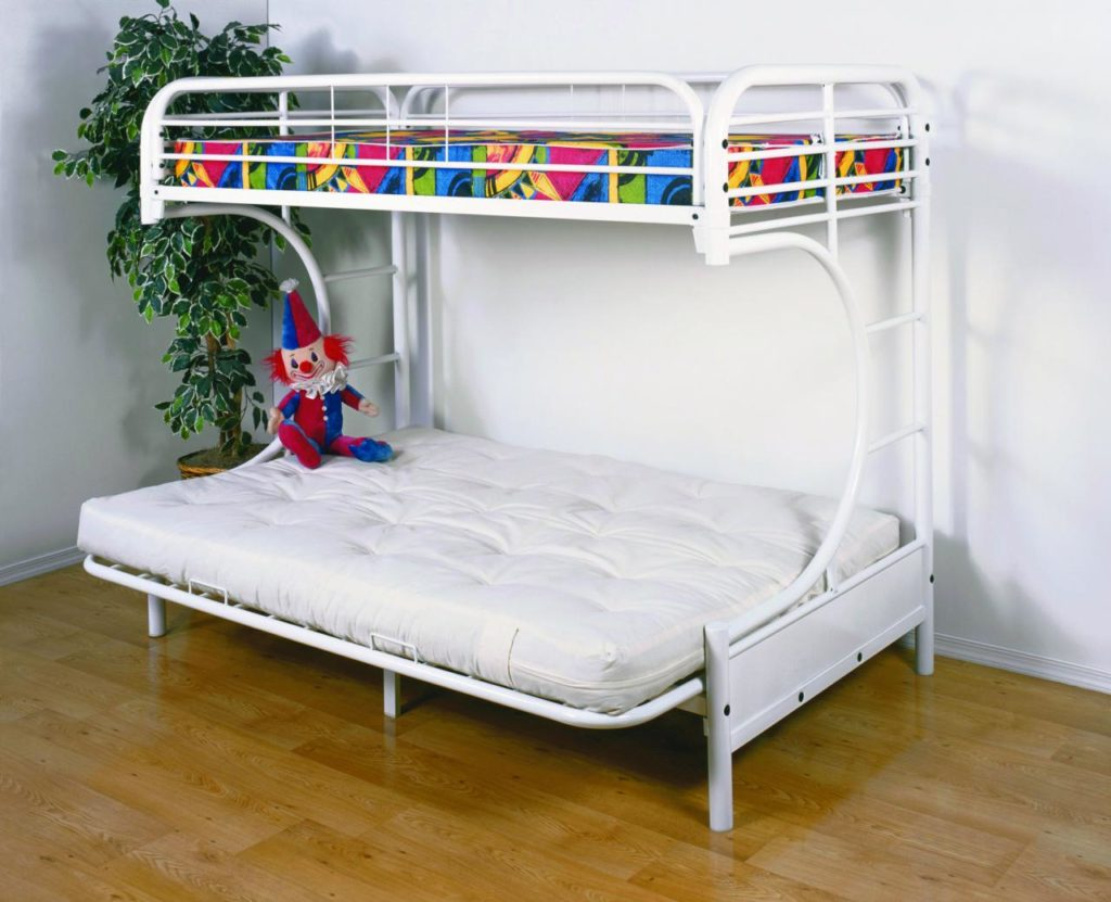 twin over futon bunk bed with mattress included twin over futon bunk bed with mattress included   eva furniture  rh   evafurniture
