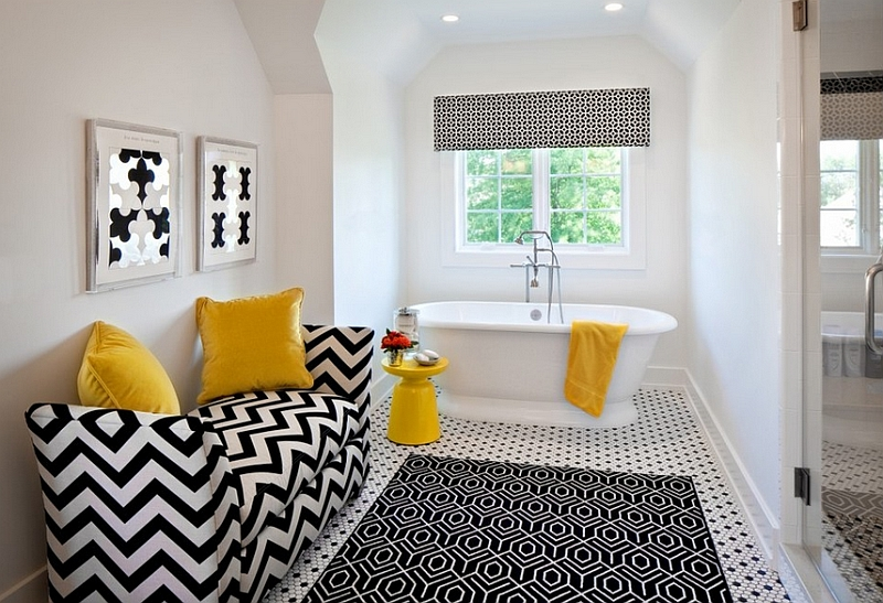 Black and White Bathroom Accent Colors with Ease in The Bathroom