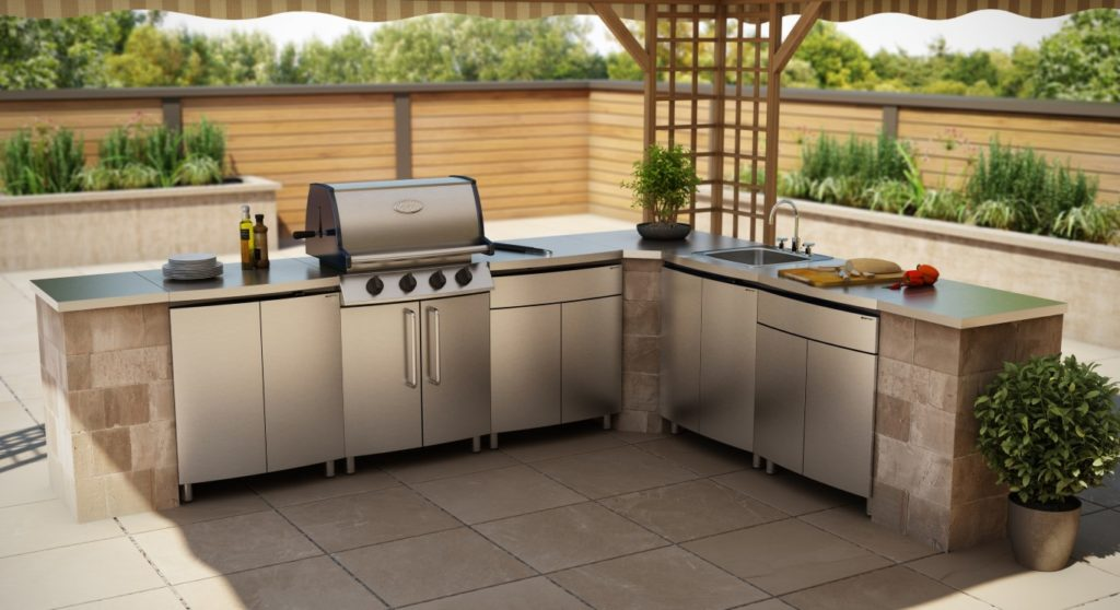 Luxury Outdoor Kitchen Stainless Steel Cabinet Doors