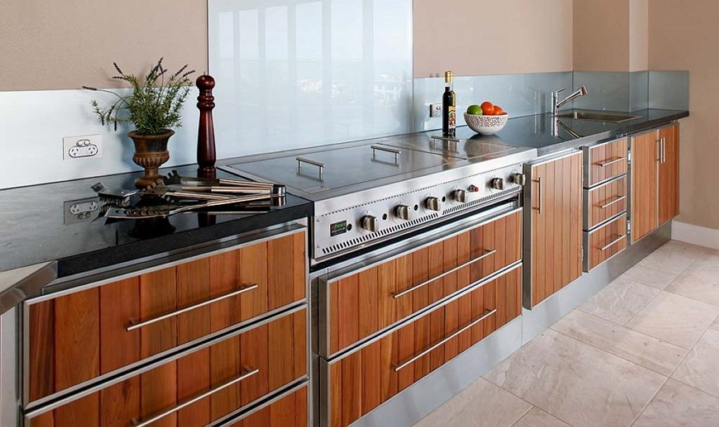 Stainless steel outdoor kitchen cabinets picture for Outdoor kitchen australia