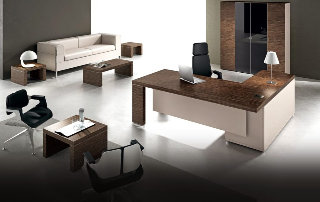 Beautiful decoration contemporary office furniture ideas for Modern office decor ideas