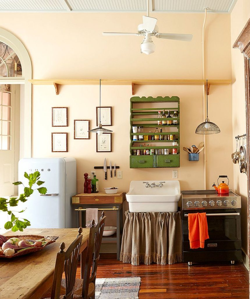 Exquisite Shabby Chic Kitchen Celebrates the Past and Present of the New Orleans Home