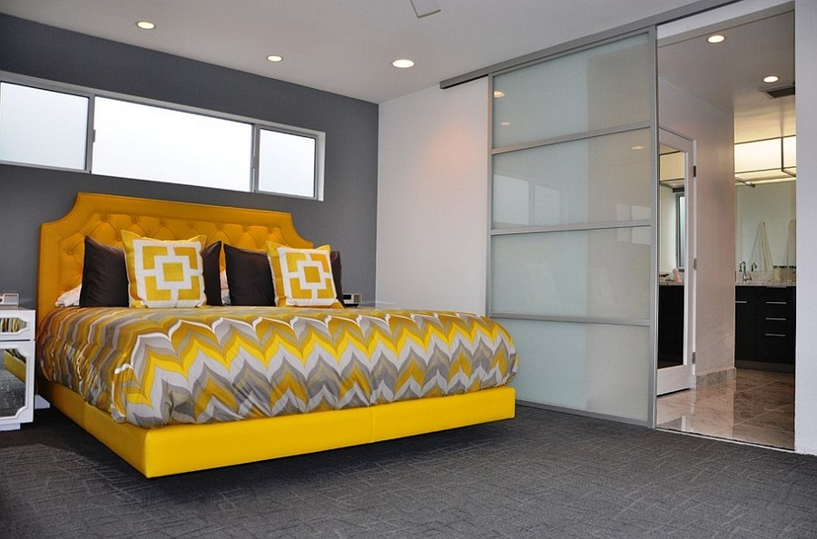 ... Modern Yellow And Grey Bedroom Decorating Ideas ...