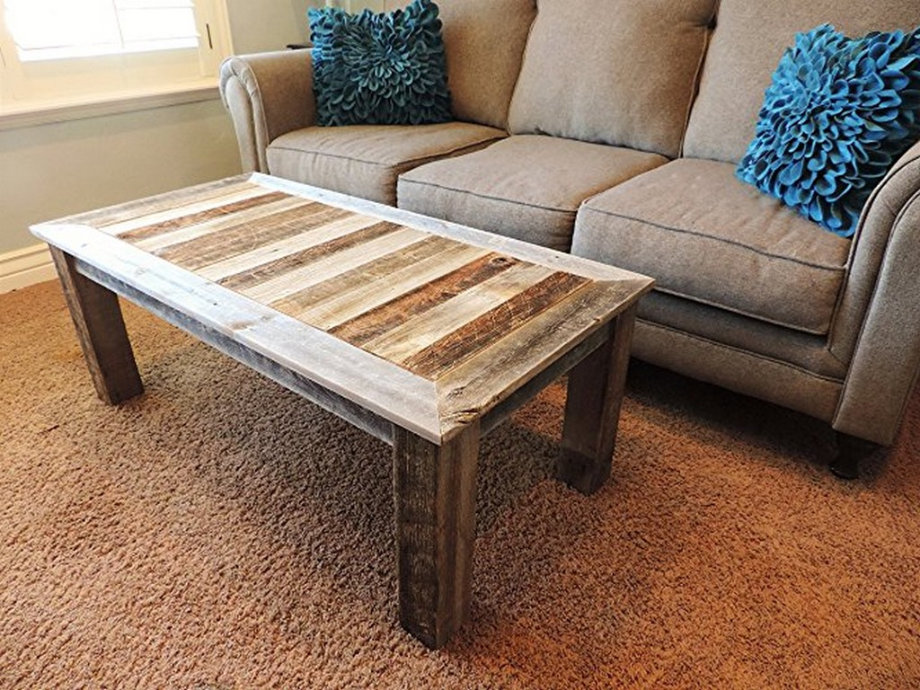 Cheap Style Rustic Barnwood Coffee Table Furniture Ideas