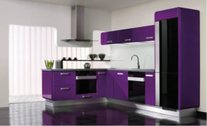 20 Stylish Kitchens Purple and Violet with Appliances Design Ideas