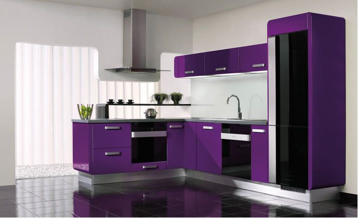 20 Stylish Kitchen Purple and Violet with Appliances Design Ideas ...