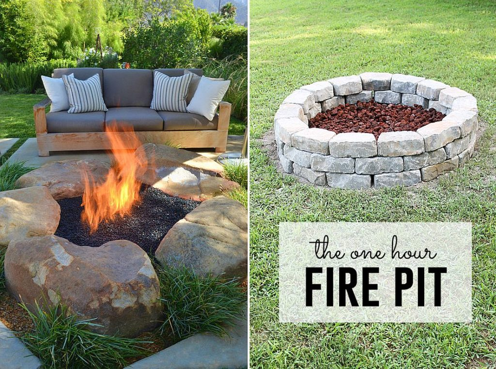 How to Build a Fire Pit, Easy DIY Inexpensive Firepit for Backyard