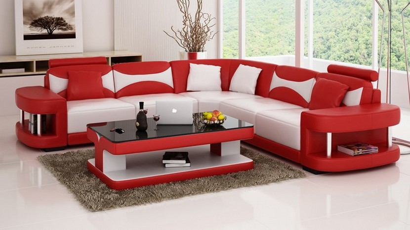 Red and White Functional Sofa Beds 2018